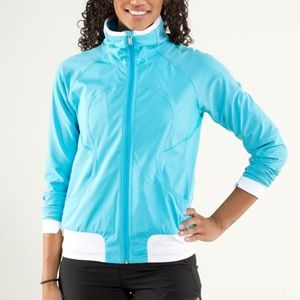 Lululemon Athletica blue Track Attack run jacket